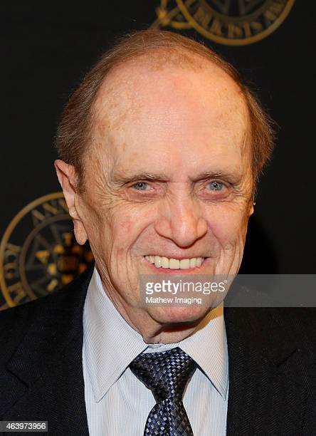 Comedian Bob Newhart poses backstage at the 52nd Annual ICG Publicists Awards at The Beverly Hilton Hotel on February 20 2015 in Beverly Hills...