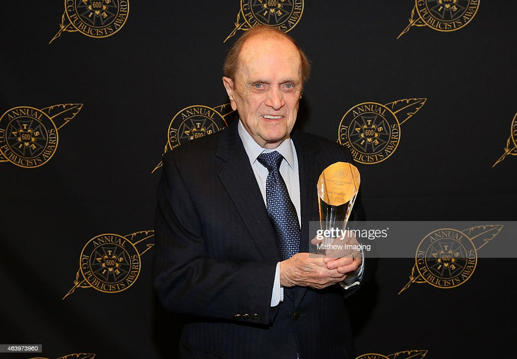 Comedian Bob Newhart poses with the Lifetime Achievement Award backstage at the 52nd Annual ICG Publicists Awards at The Beverly Hilton Hotel on February 20, 2015 in Beverly Hills, California.