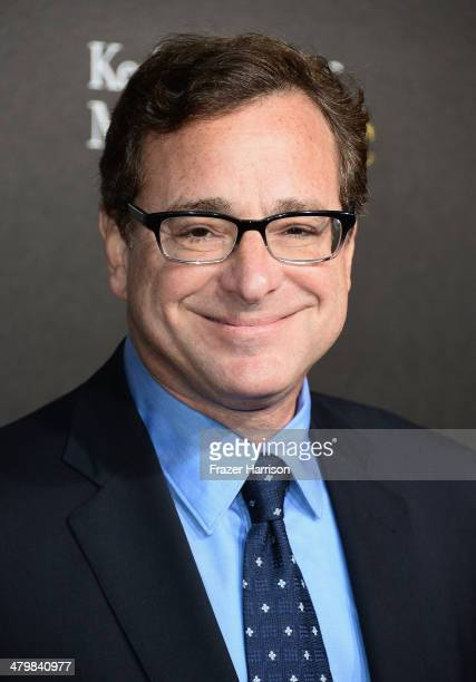 Comedian Bob Saget arrives at the 2nd Annual Rebels With A Cause Gala at Paramount Studios on March 20 2014 in Hollywood California