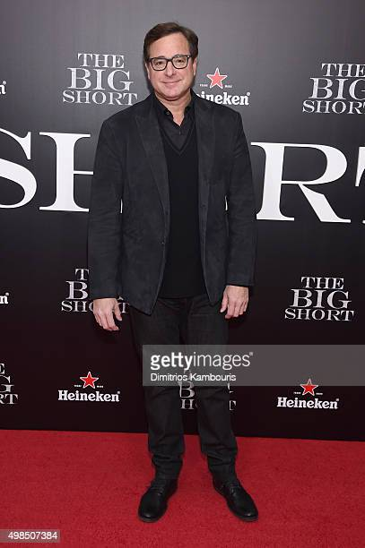 Comedian Bob Saget attends the premiere of The Big Short at Ziegfeld Theatre on November 23 2015 in New York City