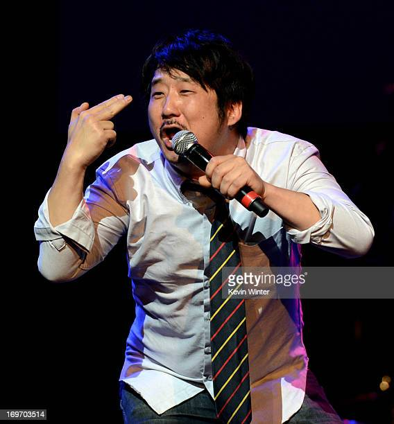 Comedian Bobby Lee performs at the 9th Annual MusiCares MAP Fund Benefit Concert at Club Nokia on May 30 2013 in Los Angeles California
