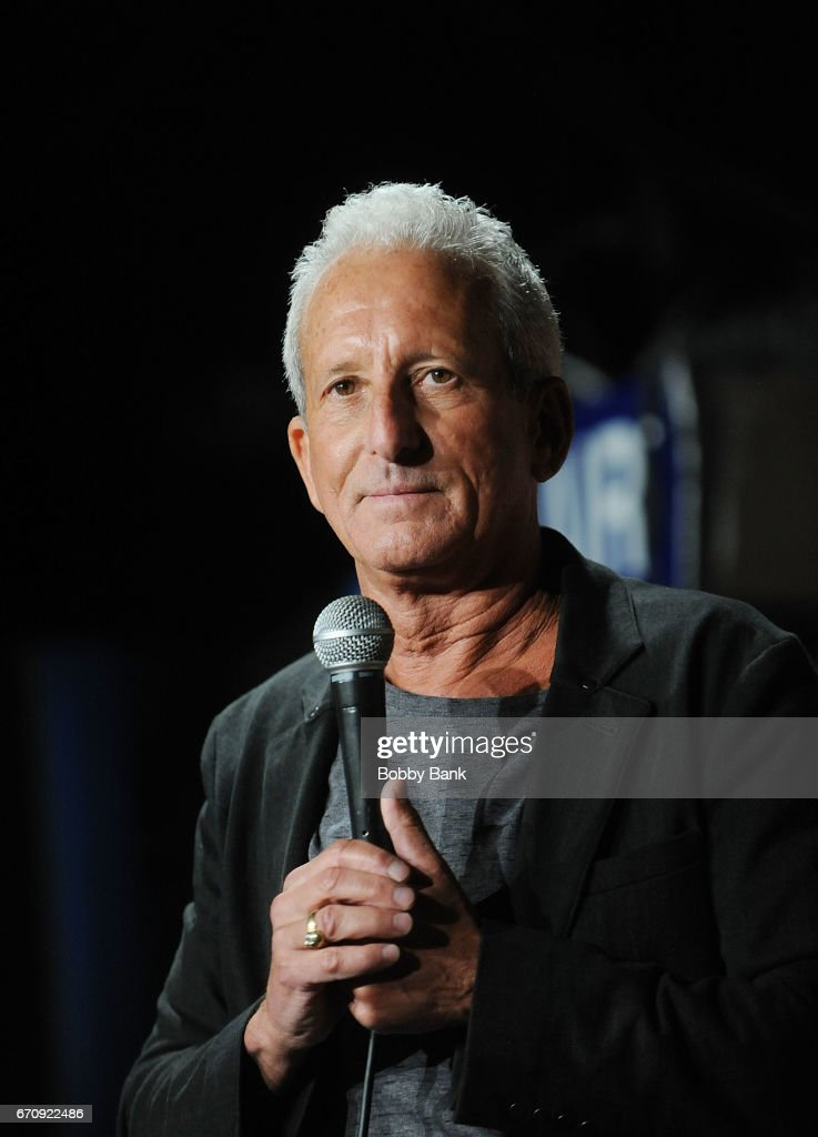 Comedian Bobby Slayton performs at The Stress Factory Comedy Club on April 20, 2017 in New Brunswick, New Jersey.