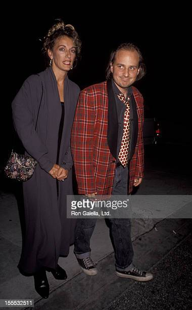 Comedian Bobcat Goldthwait and Ann Luly attend Commitment to Life IV Benefit AIDS Project on September 7 1990 at the Wiltern Theater in Los Angeles...