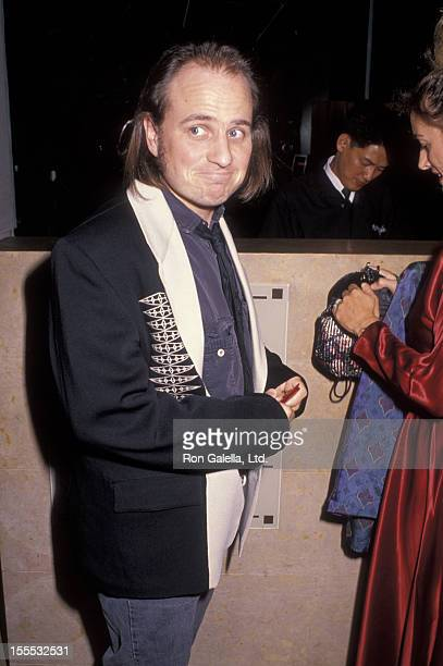 Comedian Bobcat Goldthwait and wife Ann Luly attend 10th Annual Scott Newman Foundation Benefit Gala on November 9 1990 at the Beverly Hilton Hotel...