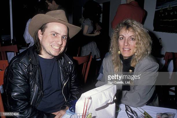 Comedian Bobcat Goldthwait and wife Ann Luly attend Lace Organiz Benefit on February 14 1989 at the City Restaurant in New York City