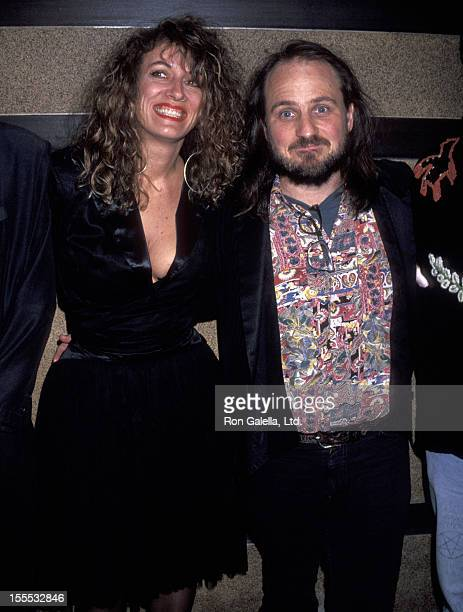 Comedian Bobcat Goldthwait and wife Ann Luly attend the premiere party for Shakes the Clown on March 9 1992 at Tatou Club in New York City