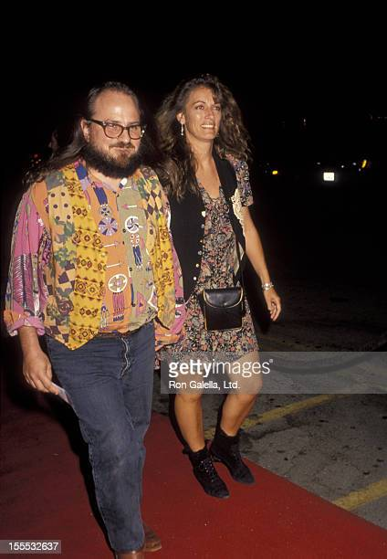 Comedian Bobcat Goldthwait and wife Ann Luly attend the premiere of Mr Saturday Night on September 22 1992 at Mann Chinese Theater in Hollywood...