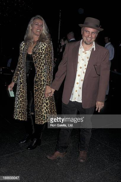 Comedian Bobcat Goldthwait and wife Ann Luly attend the premiere of If This Wall Could Talk on October 1 1996 at the Director's Guild Theater in...