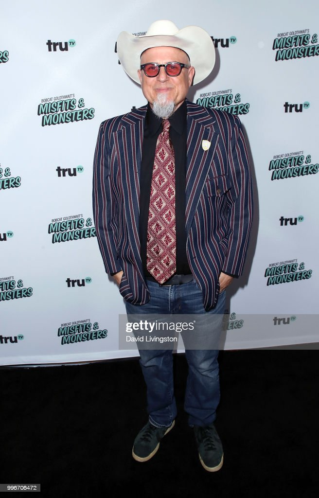 Comedian Bobcat Goldthwait attends the premiere of truTV's 'Bobcat Goldthwait's Misfits & Monsters' at the Hollywood Roosevelt Hotel on July 11, 2018 in Hollywood, California.