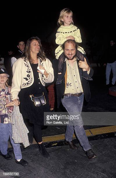Comedian Bobcat Goldthwait daughter Tasha Goldthwait wife Ann Luly and son Tyler Goldthwait attend the premiere of Hook on December 8 1991 at the...