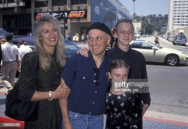 Comedian Bobcat Goldthwait wife Ann Luly daughter Tasha Goldthwait and son Tyler Goldthwait attend the premiere of Hercules on June 22 1997 at El...