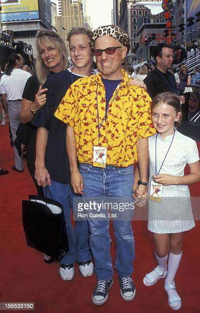 Comedian Bobcat Goldthwait wife Ann Luly son Tyler Goldthwait and daughter Tasha Goldthwait attend the world premiere of Hercules on June 14 1997 at...