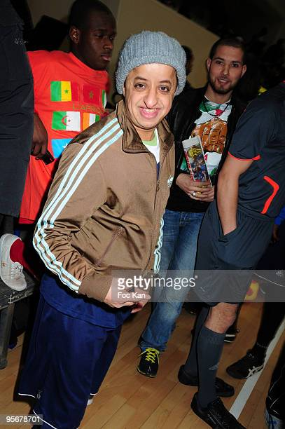 Comedian Booder attends the 'Foot du Coeur' Auction Football Match in benefit of 'Mecenat Chirurgie Cardiaque' association at the Stade Pierre de...