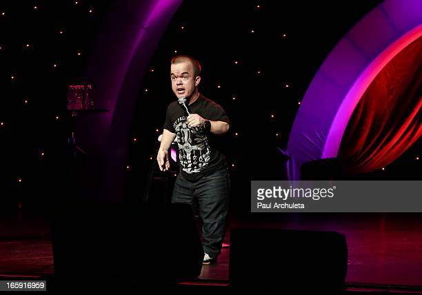 Comedian Brad Williams performs at Kevin and Bean's April Foolishness at Gibson Amphitheatre on April 6 2013 in Universal City California