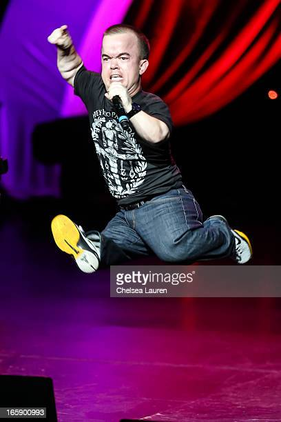 Comedian Brad Williams performs at KROQ's Kevin Bean's April Foolishness 2013 at Gibson Amphitheatre on April 6 2013 in Universal City California