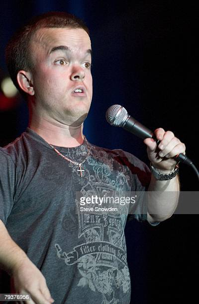 Comedian Brad Williams performs at Route 66 Casino's Legends Theater on December 8 2007 in Albuquerque New Mexico