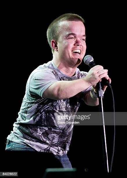 Comedian Brad Williams performs at Route 66 Casino's Legends Theater on December 13 2008 in Albuquerque New Mexico