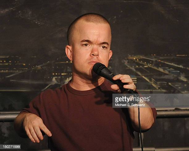 Comedian Brad Williams performs during his appearance at The Ice House Comedy Club on August 11 2012 in Pasadena California