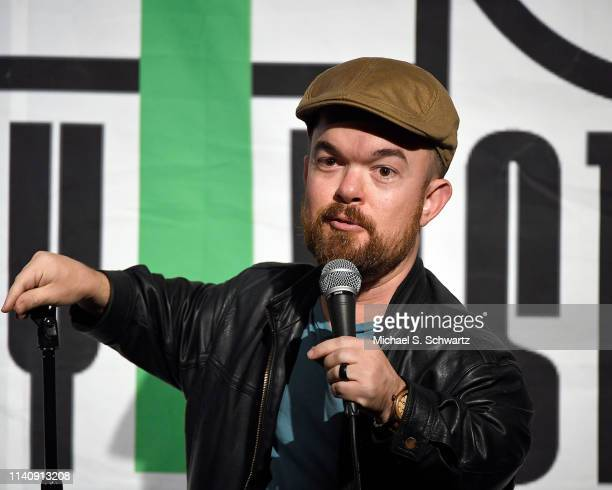 Comedian Brad Williams performs during his appearance at the NoHo Comedy Festival at Ha Ha Cafe Comedy Club on May 2 2019 in North Hollywood...