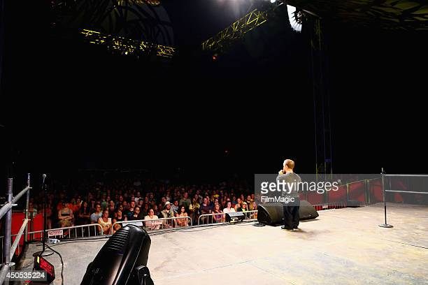 Comedian Brad Williams performs onstage in the Comedy Theater during day 1 of the 2014 Bonnaroo Arts And Music Festival on June 12 2014 in Manchester...
