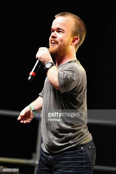 Comedian Brad Williams performs onstage in the Comic Theater during day 1 of the 2014 Bonnaroo Arts And Music Festival on June 12 2014 in Manchester...