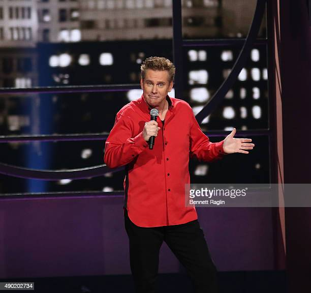 Comedian Brian Regan performs during Comedy Central's 'Brian Regan Live From Radio City Music Hall' on September 26 2015 in New York City