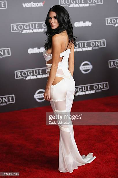 Comedian Brittany Furlan arrives at the premiere of Walt Disney Pictures and Lucasfilm's Rogue One A Star Wars Story at the Pantages Theatre on...
