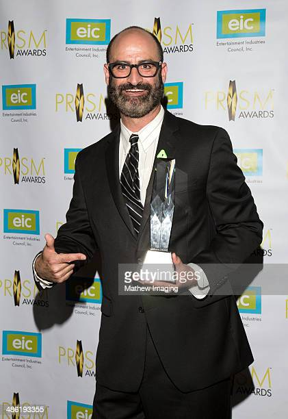 Comedian Brody Stevens accepts the EIC President's Award at the 18th Annual PRISM Awards at Skirball Cultural Center on April 22 2014 in Los Angeles...