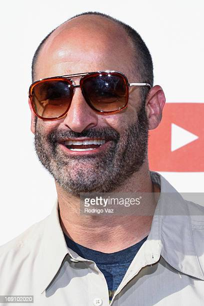 Comedian Brody Stevens arrives at the YouTube Comedy Week Presents The Big Live Comedy Show at Culver Studios on May 19 2013 in Culver City California
