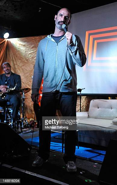Comedian Brody Stevens performs at the The Eric Andre Show Live presented by Adult Swim and IHEARTCOMIX at The Satellite on May 31 2012 in Los...