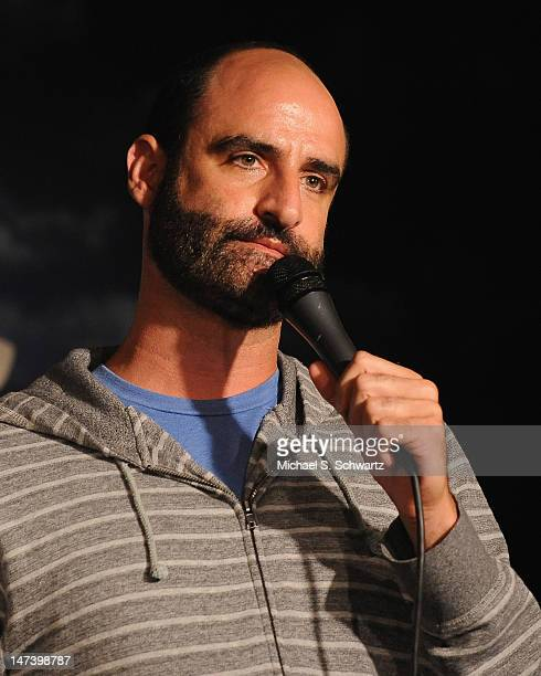 Comedian Brody Stevens performs during his appearance at The Ice House Comedy Club on June 28 2012 in Pasadena California
