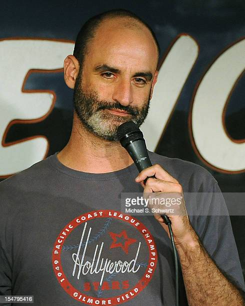 Comedian Brody Stevens performs during his appearance at The Ice House Comedy Club on October 25 2012 in Pasadena California