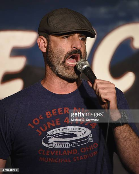 Comedian Brody Stevens performs during his appearance at The Ice House Comedy Club on June 24 2015 in Pasadena California