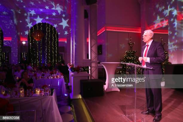 Comedian Bruno Jonas performes during the FC Bayern Muenchen Christmas Party 2017 at Palais Lenbach on December 9 2017 in Munich Germany
