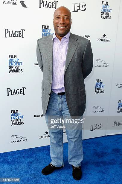 Comedian Byron Allen attends the 2016 Film Independent Spirit Awards on February 27 2016 in Santa Monica California