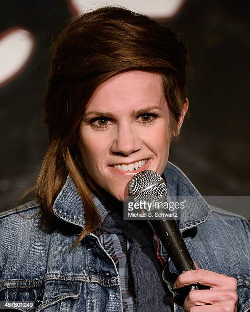 Comedian Cameron Esposito performs during her appearance at The Ice House Comedy Club on May 1 2014 in Pasadena California