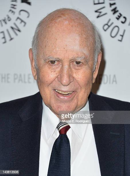 Comedian Carl Reiner attends a screening of the PBS documentary American Masters Johnny Carson King of Late Night at The Paley Center for Media on...