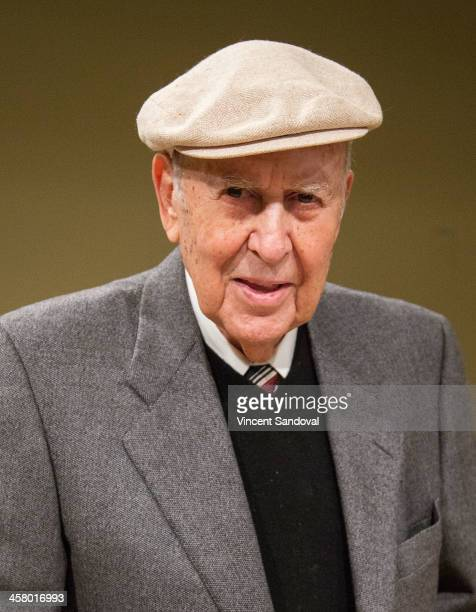 Comedian Carl Reiner signs and discusses his new book I Remember Me at Santa Monica Library on December 19 2013 in Santa Monica California