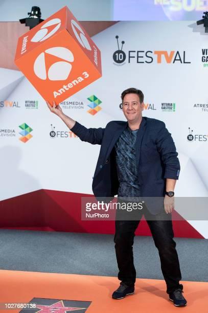 Comedian Carlos Latre attends to presentation of new season of 'Tu cara me suena' during FestVal in Vitoria Spain September 06 2018