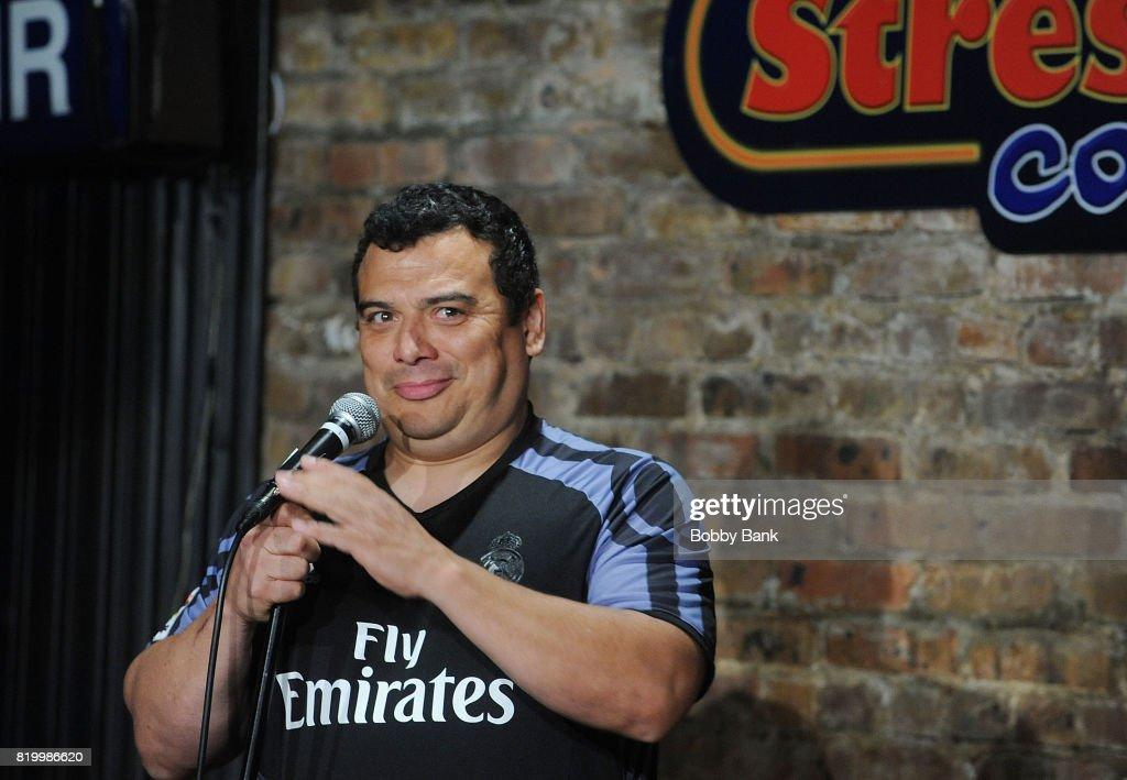Carlos Mencia Performs At The Stress Factory Comedy Club