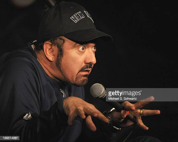 Comedian Carlos Oscar performs during his appearance at The Ice House Comedy Club on November 15 2012 in Pasadena California