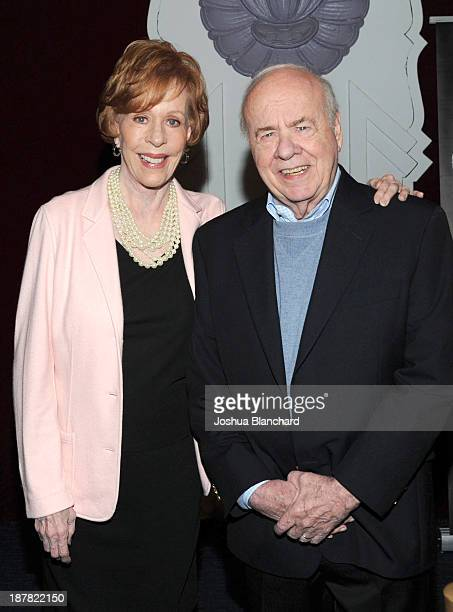 Comedian Carol Burnett and comedian Tim Conway arrive at The Writer's Bloc event with comedian Tim Conway hosted by Carol Burnett at Saban Theatre on...