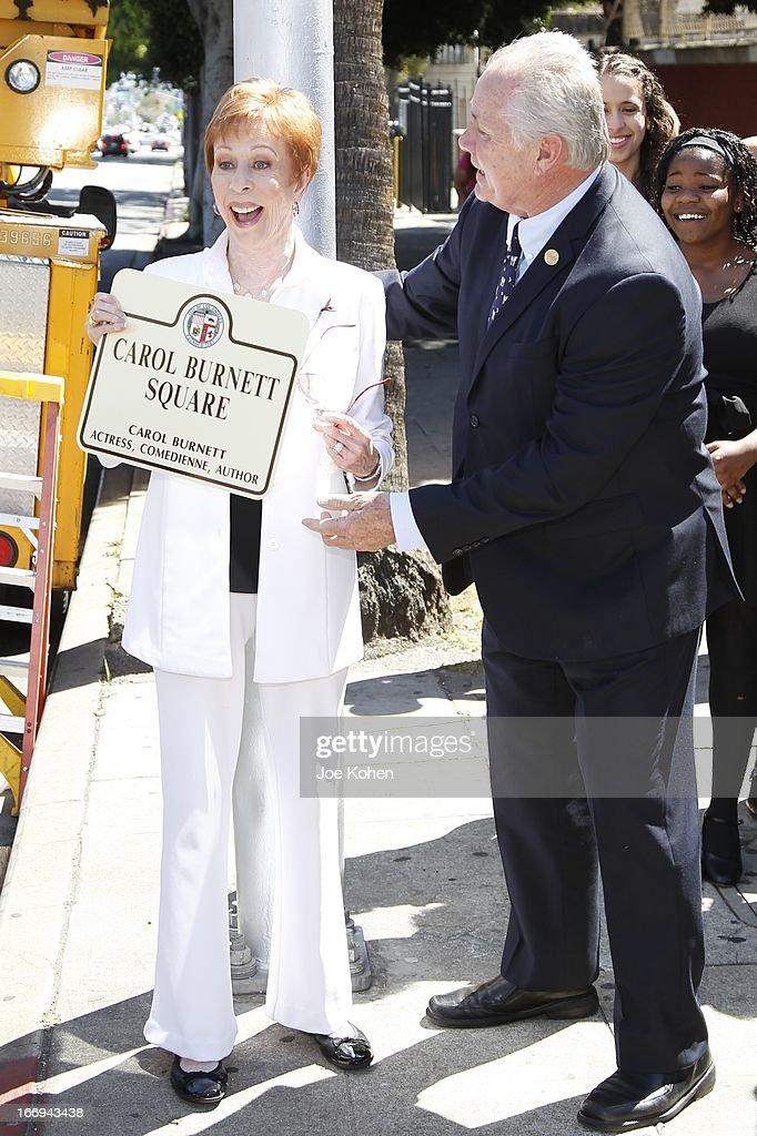 "Naming Ceremony And Palque Unveiling Of ""Carol Burnett Square"""