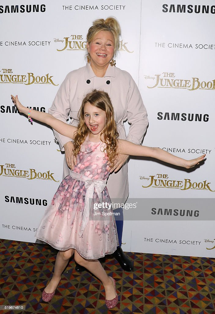 Comedian Caroline Rhea and daughter Ava Rhea Economopoulos attend the screening of 'The Jungle Book' hosted by Disney with The Cinema Society and Samsung at AMC Empire 25 theater on April 7, 2016 in New York City.