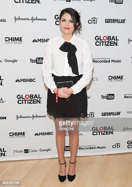 Comedian Cecily Strong poses backstage at Global Citizen The World On Stage at NYU Skirball Center on September 22 2016 in New York City