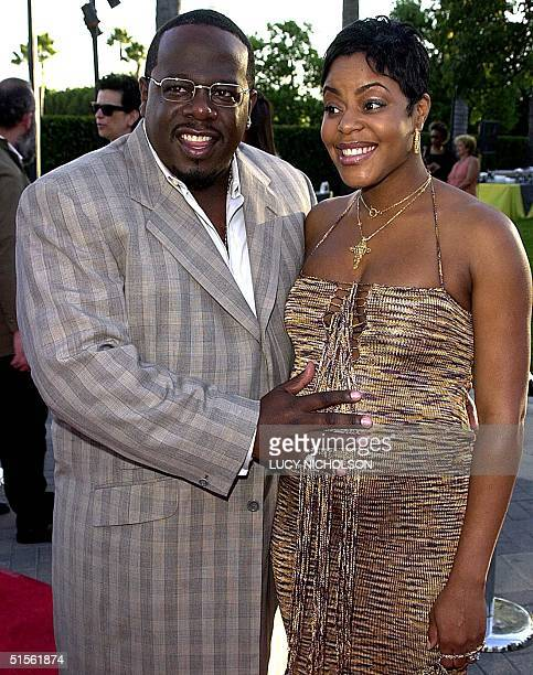 US comedian Cedric The Entertainer and his wife Lorna Kyles arrive at the premiere of Spike Lee's new film The Original Kings of Comedy which is...