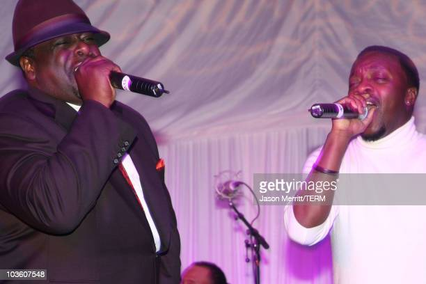 Comedian Cedric The Entertainer and singer Anthony Hamilton perform during the Jordan Brand Fabulous 23 Cocktail Party and Dinner held at the W Hotel...