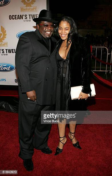 Comedian Cedric the Entertainer and wife Lorna Wells arrive at the Warner Bros premiere of the film Ocean's Twelve at Grauman's Chinese Theatre...