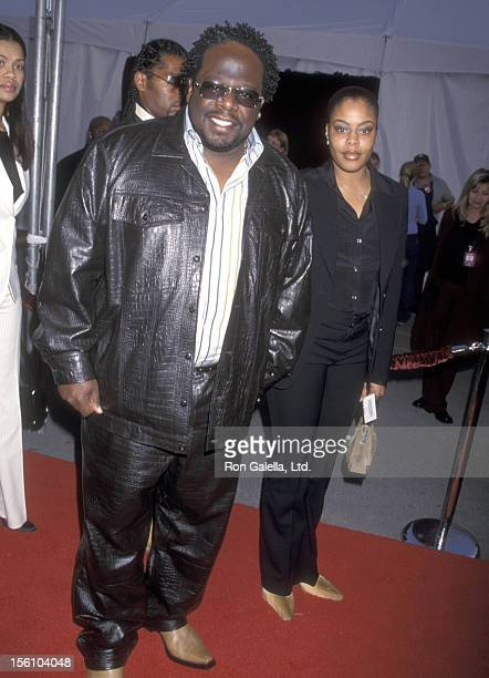 Comedian Cedric 'The Entertainer' Kyles and wife Lorna Wells attend the 29th Annual American Music Awards on January 9 2002 at Shrine Auditorium in...