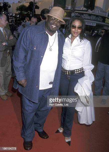 Comedian Cedric 'The Entertainer' Kyles and wife Lorna Wells attend the 'Swordfish' Westwood Premiere on June 4 2001 at Mann Village Theatre in...